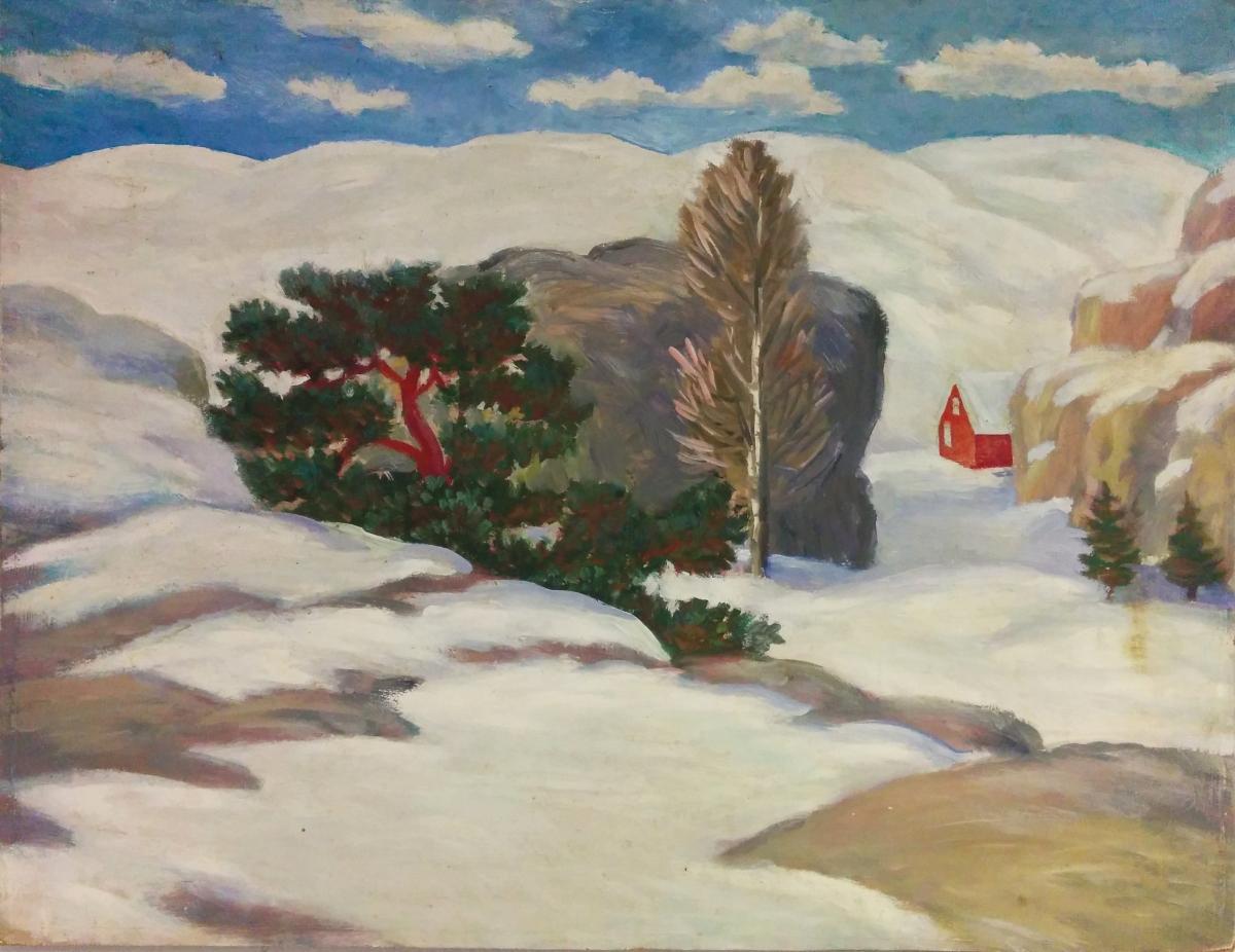 """""""Huset i skogen"""" var et motiv i Arbeidermagasinet"""